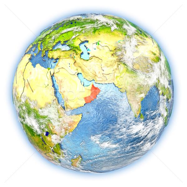 Oman terre isolé rouge planète terre 3d illustration Photo stock © Harlekino