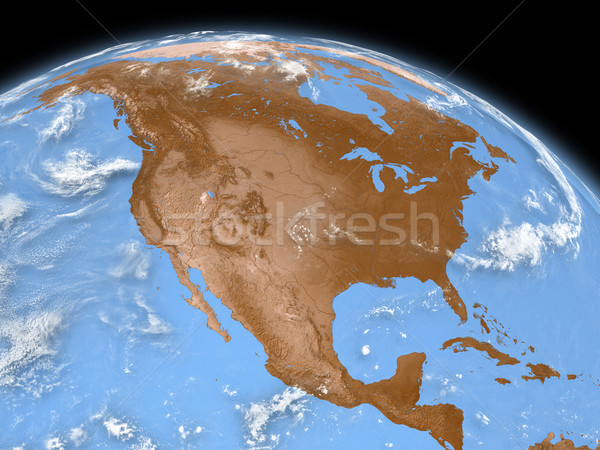 North America on Earth Stock photo © Harlekino
