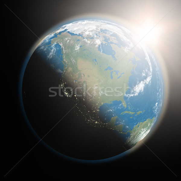 Sunrise over North America Stock photo © Harlekino