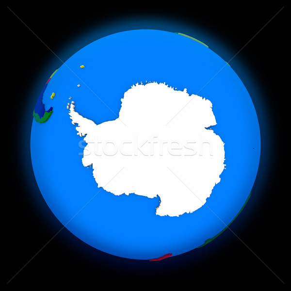 Antarctica on political Earth Stock photo © Harlekino