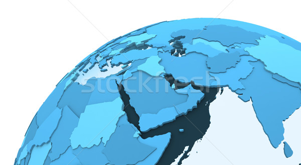 Middle East on translucent Earth Stock photo © Harlekino