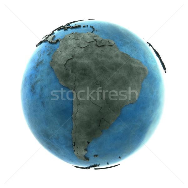 Sud america marmo pianeta terra 3D modello blu Foto d'archivio © Harlekino