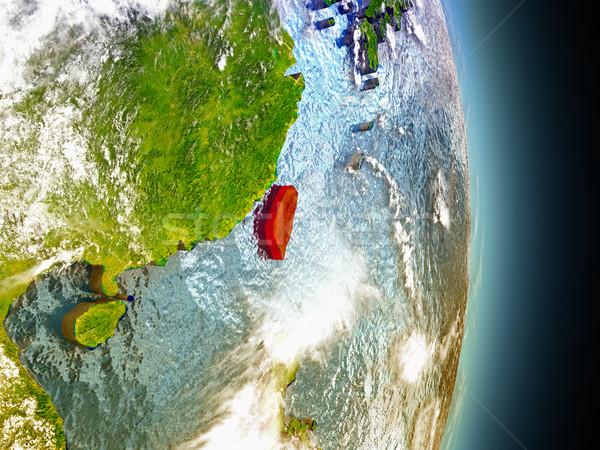 Kırmızı uzay model yörünge 3d illustration Stok fotoğraf © Harlekino
