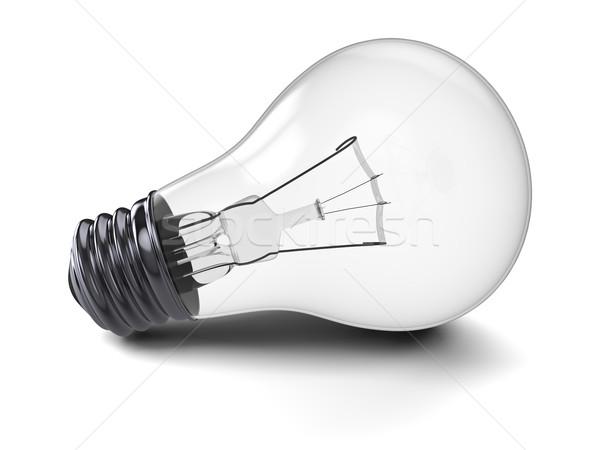 лампочка иллюстрация изолированный белый науки энергии Сток-фото © Harlekino