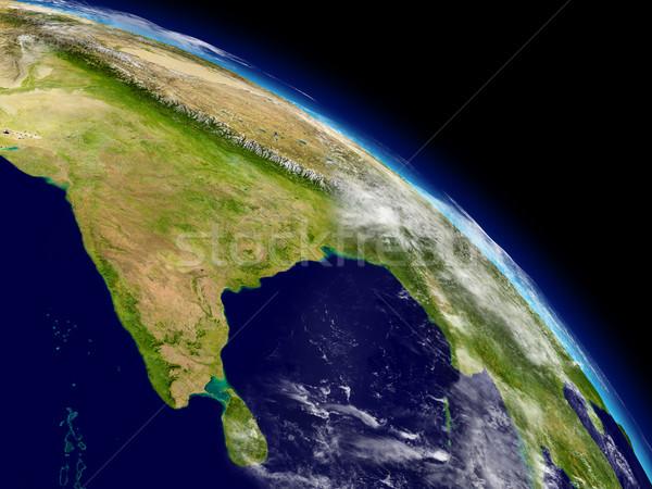 India from space Stock photo © Harlekino