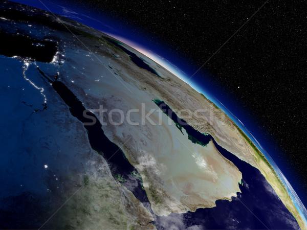 Manhã árabe península de manhã cedo espaço Foto stock © Harlekino