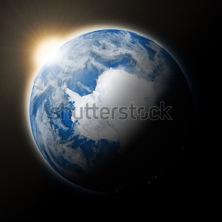 Sun over Antarctica on planet Earth Stock photo © Harlekino