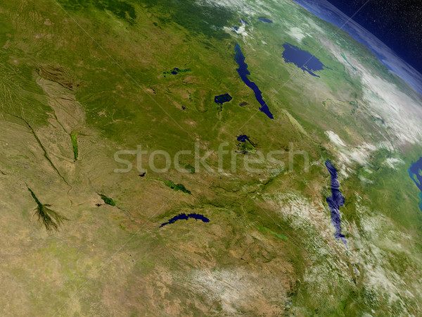 Zambia from space Stock photo © Harlekino