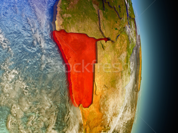 Namibia in red from space Stock photo © Harlekino