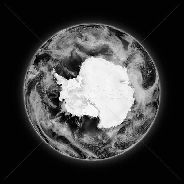 Antarctica on dark planet Earth Stock photo © Harlekino