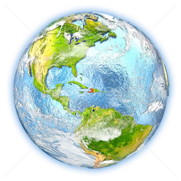 Haiti terra isolato rosso pianeta terra illustrazione 3d Foto d'archivio © Harlekino