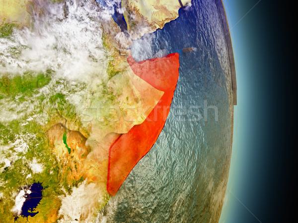 ソマリア 赤 スペース モデル 軌道 3次元の図 ストックフォト © Harlekino