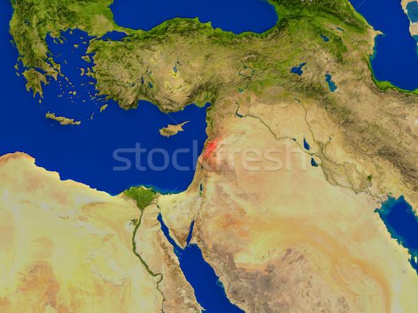 Lebanon from space in red Stock photo © Harlekino