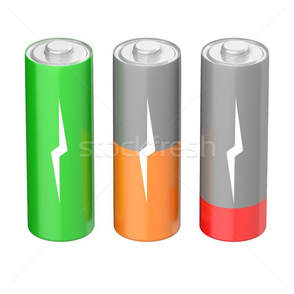 Battery charging icons Stock photo © Harlekino