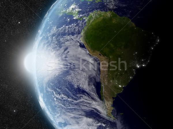 солнце Южной Америке закат регион планете Земля пространстве Сток-фото © Harlekino