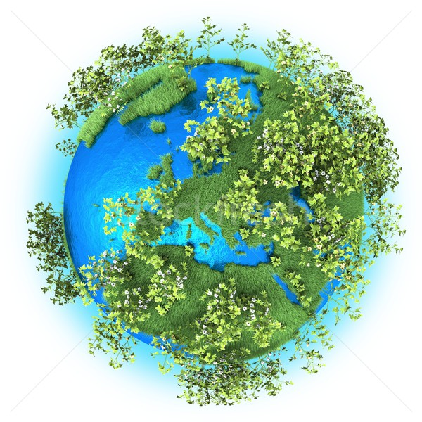 Europe and Northern Africa on planet Earth  Stock photo © Harlekino