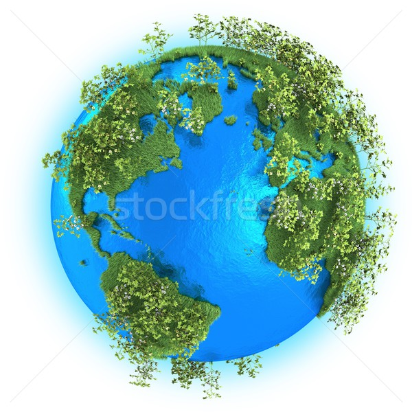 North and South America, Europe and Africa on planet Earth Stock photo © Harlekino