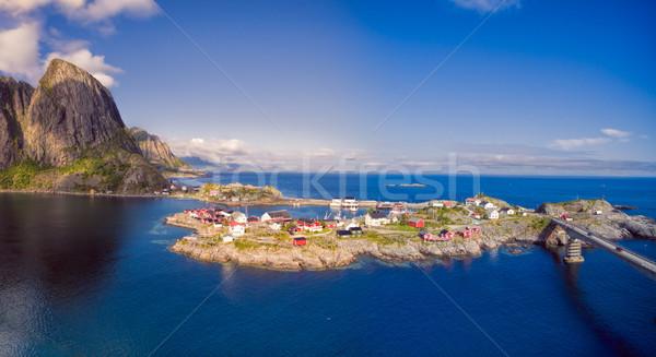 Scenic village in Norway Stock photo © Harlekino