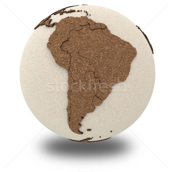 Южной Америке свет земле 3D модель планете Земля Сток-фото © Harlekino