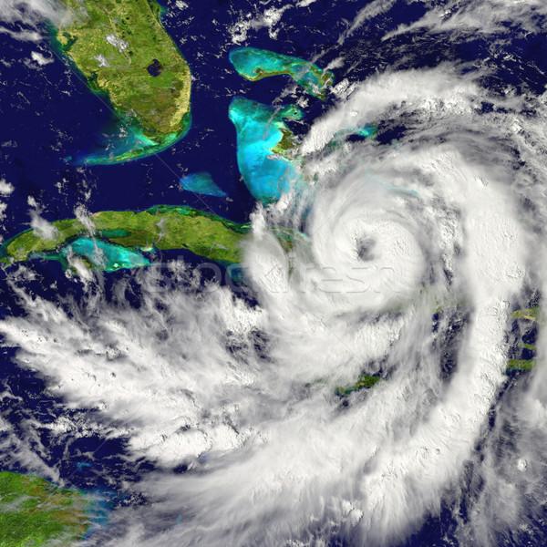 Orkaan Cuba reusachtig Florida amerika hemel Stockfoto © Harlekino