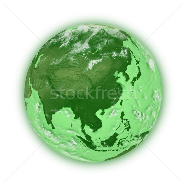 東南アジア 緑 地球 孤立した 白 要素 ストックフォト © Harlekino