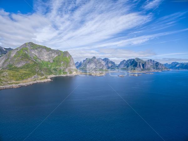 Picturesque coastline on Lofoten Stock photo © Harlekino