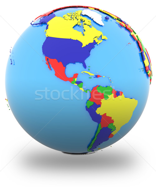 Western hemisphere on the globe Stock photo © Harlekino