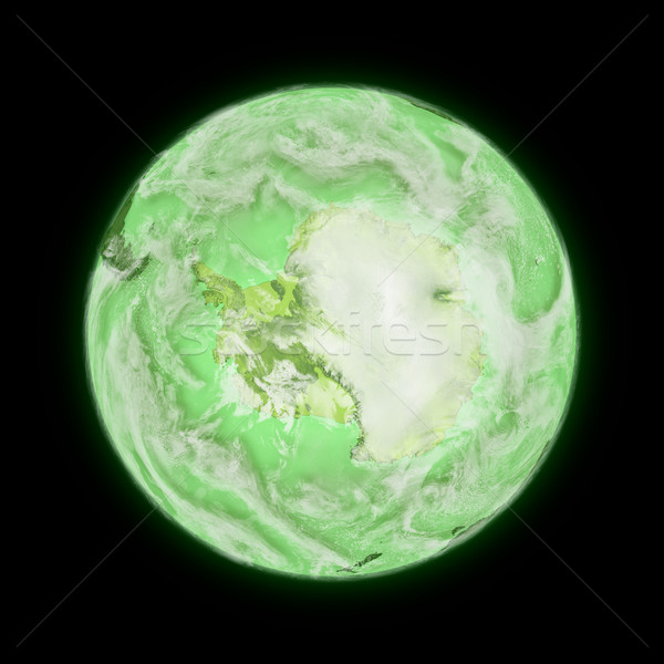 Antarctica on green planet Earth Stock photo © Harlekino