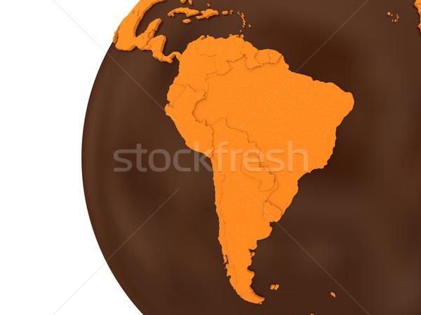 América del sur chocolate tierra modelo planeta tierra dulce Foto stock © Harlekino