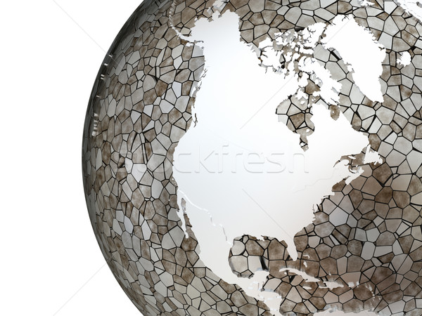 észak Amerika áttetsző Föld fémes modell Stock fotó © Harlekino
