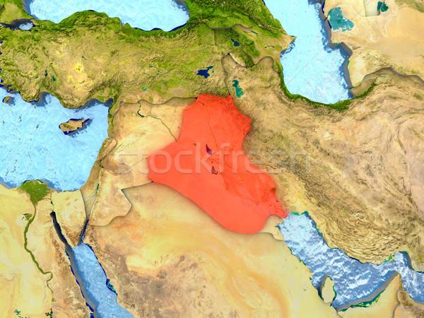 Rood regio 3d illustration gedetailleerd Stockfoto © Harlekino