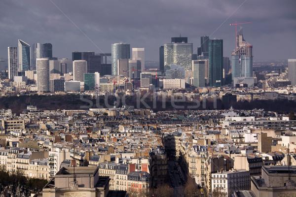 бизнеса квартал Париж Крыши защита Сток-фото © Harlekino