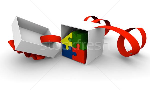 новый дом настоящее дома символ четыре красочный Сток-фото © Harlekino