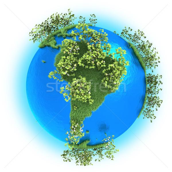 South America on planet Earth  Stock photo © Harlekino