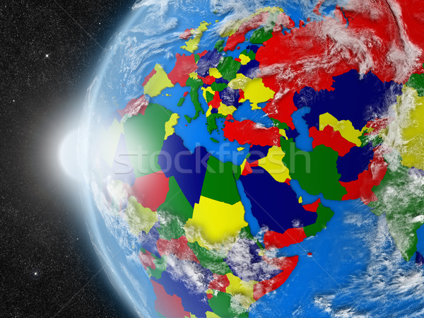 EMEA region continent from space Stock photo © Harlekino