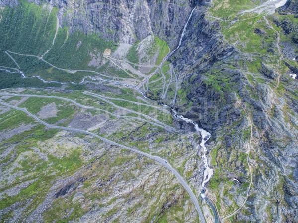 Trollstigen road Stock photo © Harlekino