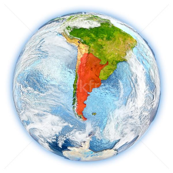 Argentína Föld izolált piros Föld 3d illusztráció Stock fotó © Harlekino