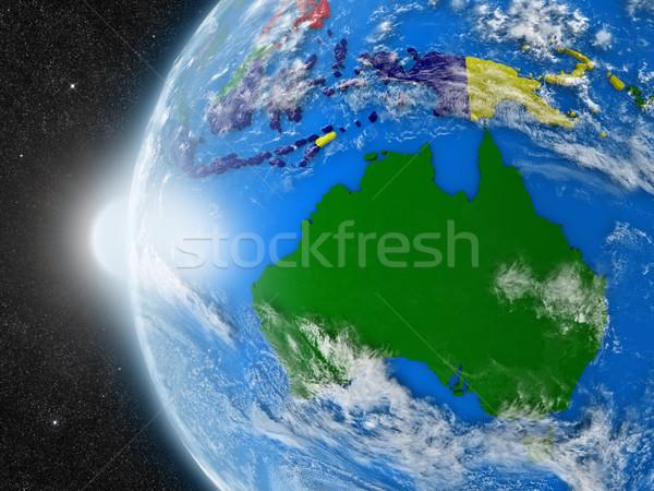 Australiano continente espaço planeta terra político Foto stock © Harlekino