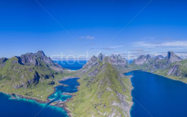 Panorama cênico belo Noruega paisagem Foto stock © Harlekino