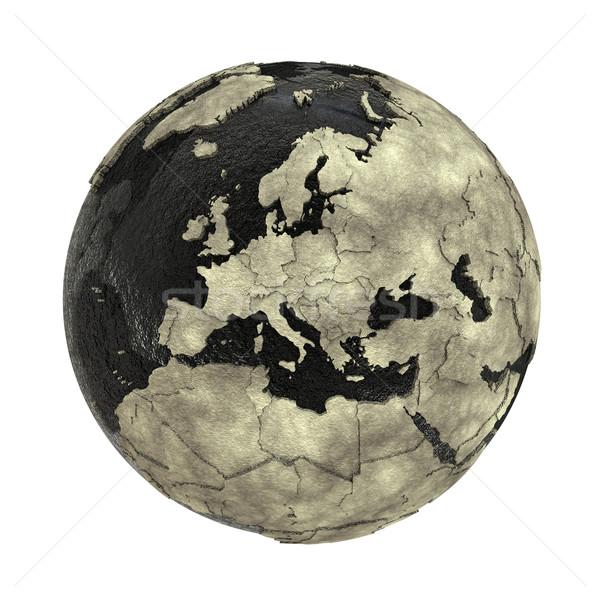 Avrupa toprak yağ 3D model dünya gezegeni Stok fotoğraf © Harlekino