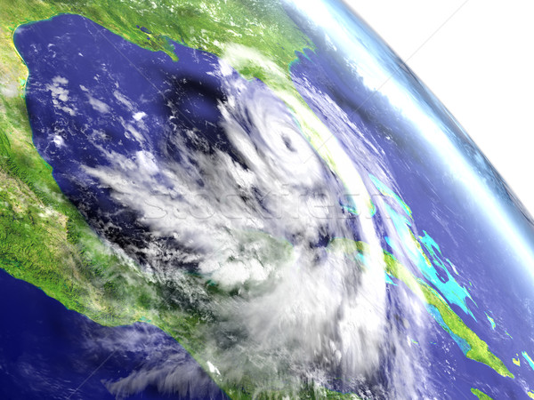 Hurricane Matthew from orbit Stock photo © Harlekino