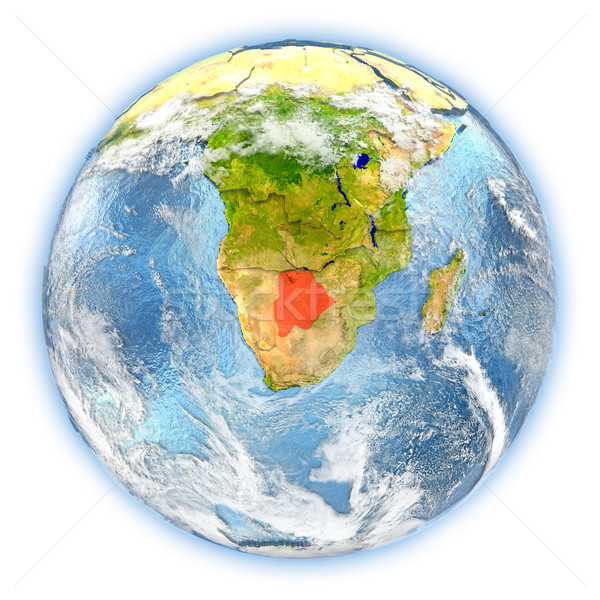 Botswana terre isolé rouge planète terre 3d illustration Photo stock © Harlekino