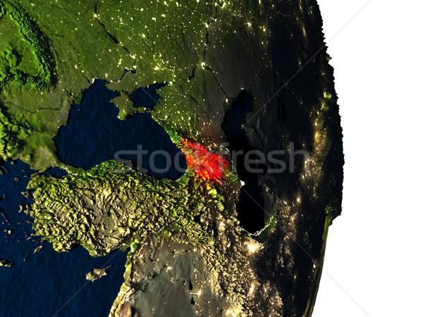 Georgia from space during dusk Stock photo © Harlekino