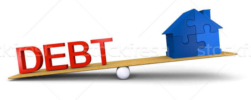 Debt versus house Stock photo © Harlekino