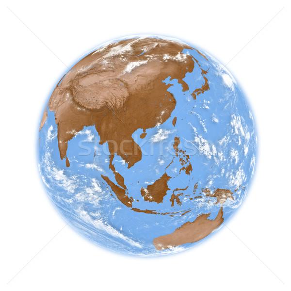 Güneydoğu asya toprak dünya gezegeni yalıtılmış beyaz elemanları Stok fotoğraf © Harlekino