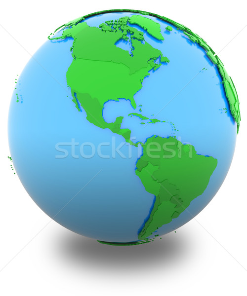 Americas on Earth Stock photo © Harlekino