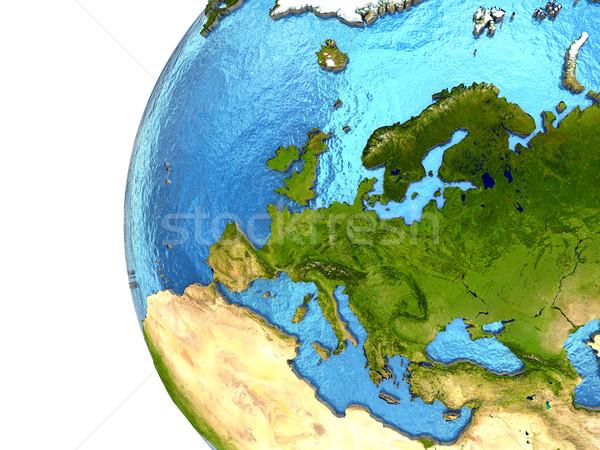 Européenne continent terre Europe détaillée modèle Photo stock © Harlekino