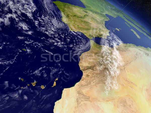 Morocco from space Stock photo © Harlekino
