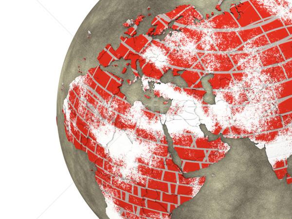 Közel-Kelet téglafal Föld régió modell Föld Stock fotó © Harlekino