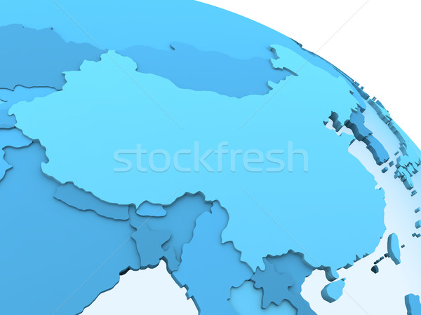 Kína áttetsző Föld modell Föld látható Stock fotó © Harlekino